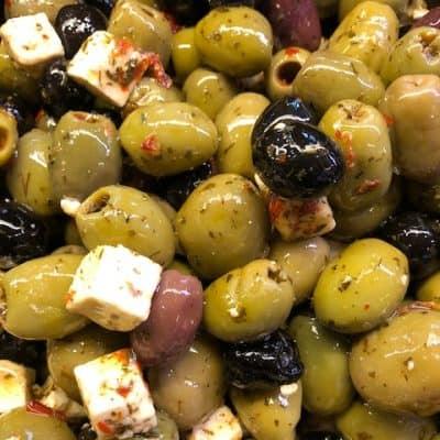 Italiaanse olijven mix met feta